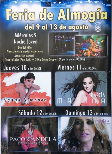 Feria de Almogía 2017 (Del 9 al 13 de agosto)