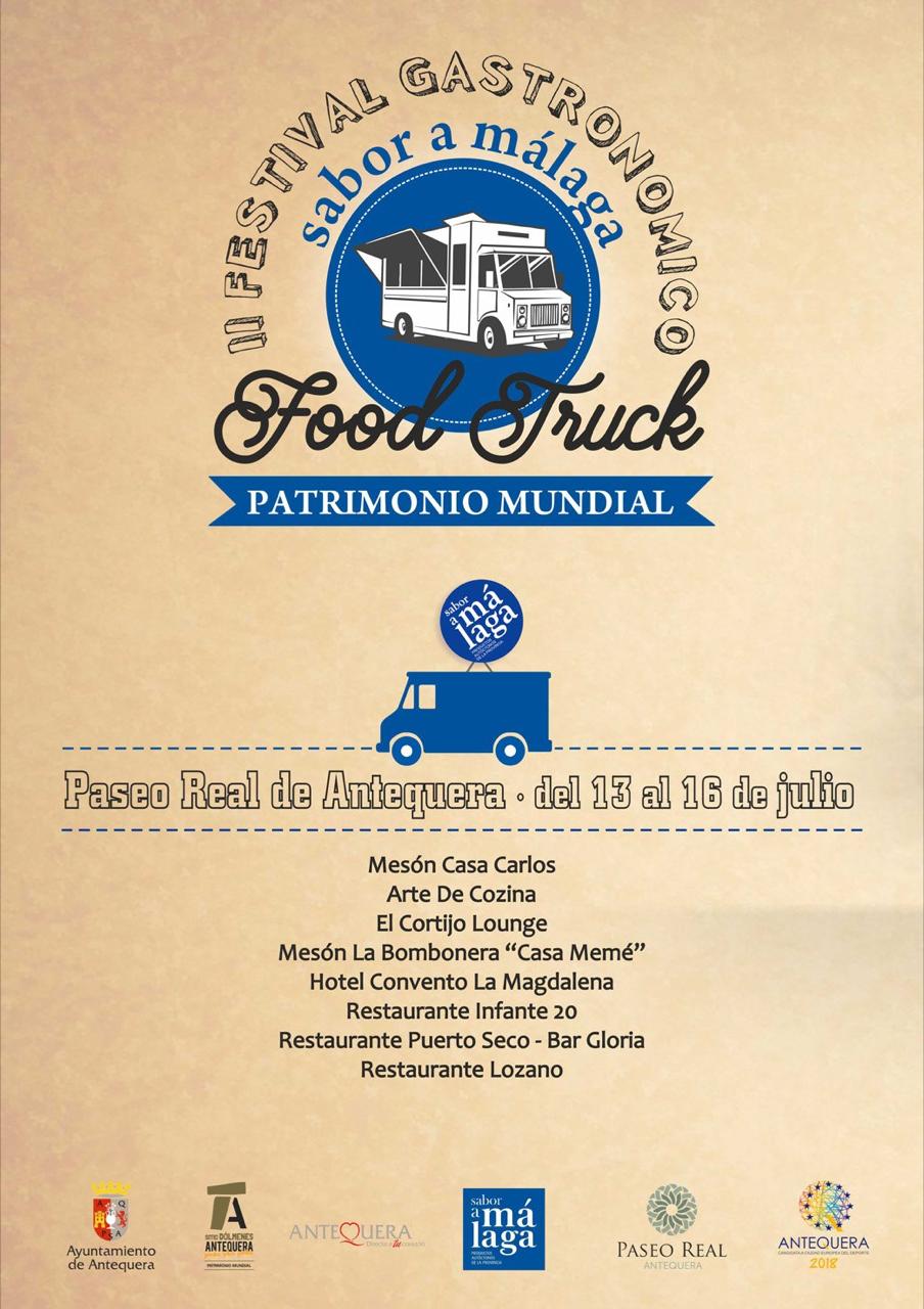 Gastronomía en Antequera: II Festival Food Truck 2017 (13 al 16 de julio)