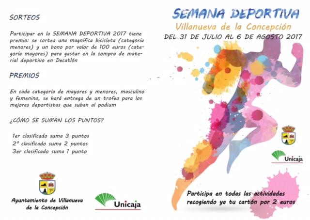 Semana Deportiva Villanueva de la Concepción 2017 (Del 31 de julio al 6 de agosto)